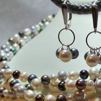 Jewelry, Bridesmaids, Bridesmaids Dresses, Fashion, white, blue, Earrings, Pearls, Bliss designs