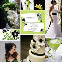 Ceremony, Inspiration, Flowers & Decor, Stationery, Cakes, white, green, black, cake, Ceremony Flowers, Invitations, Flowers, Board
