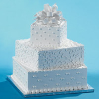 Cakes, white, cake, Square Wedding Cakes, Square