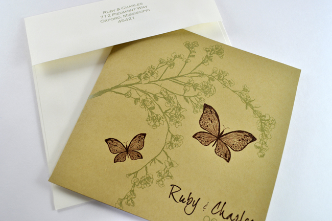 Stationery, white, green, brown, invitation, Eco-Friendly, Invitations, Wedding, Unique, Down-to-earth paperworks