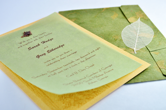 Stationery, white, green, brown, gold, invitation, Eco-Friendly, Invitations, Wedding, Unique, Down-to-earth paperworks