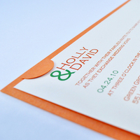 Stationery, orange, green, invitation, Modern Wedding Invitations, Invitations, Wedding, Unique, Down-to-earth paperworks