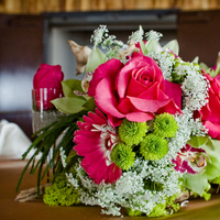 Reception, Flowers & Decor, white, pink, green, Centerpieces, Flowers, Centerpiece, Lace, Daisies, Anne, Gerber, Queens, Seed floral couture