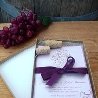 Flowers & Decor, Stationery, purple, green, invitation, Vineyard, Vineyard Wedding Invitations, Invitations, Wedding, Grape, Wine, Napa, Emtsweeetieweddings