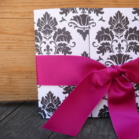 Stationery, white, pink, purple, green, black, silver, Invitations, Emtsweeetieweddings