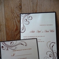 Stationery, white, ivory, purple, green, brown, silver, gold, Vineyard Wedding Invitations, Invitations, Champagne, Ornate, Emtsweeetieweddings