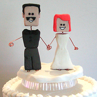 Cakes, cake, Cake Toppers, Custom, Bride and groom, Polymer clay, Beemine designs
