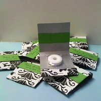 Reception, Flowers & Decor, Favors & Gifts, white, black, Favors, Mints, Damask, Emtsweeetieweddings