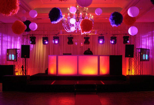 Reception, Flowers & Decor, pink, red, purple, Lighting, Dj, Club, Balloons, Intelligent, Special occasions dj lighting