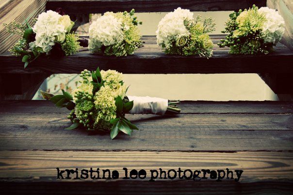 Inspiration, Flowers & Decor, Bridesmaids, Bridesmaids Dresses, Fashion, white, green, brown, Bride Bouquets, Bridesmaid Bouquets, Flowers, Bouquet, Detail, Board, Kristina lee photography, Flower Wedding Dresses