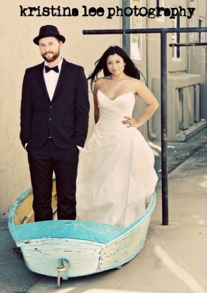 Beauty, Wedding Dresses, Fashion, white, blue, black, dress, Bride, Hair, After, Couple, Day, Boat, Goom, Kristina lee photography