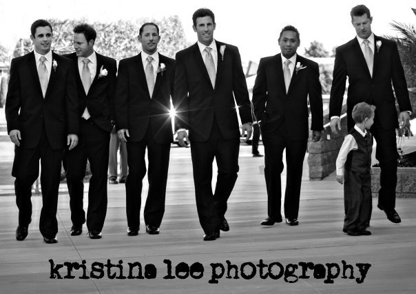 Inspiration, Tuxedos, white, black, Groomsmen, Groom, Ring, Board, Bearer, Kristina lee photography