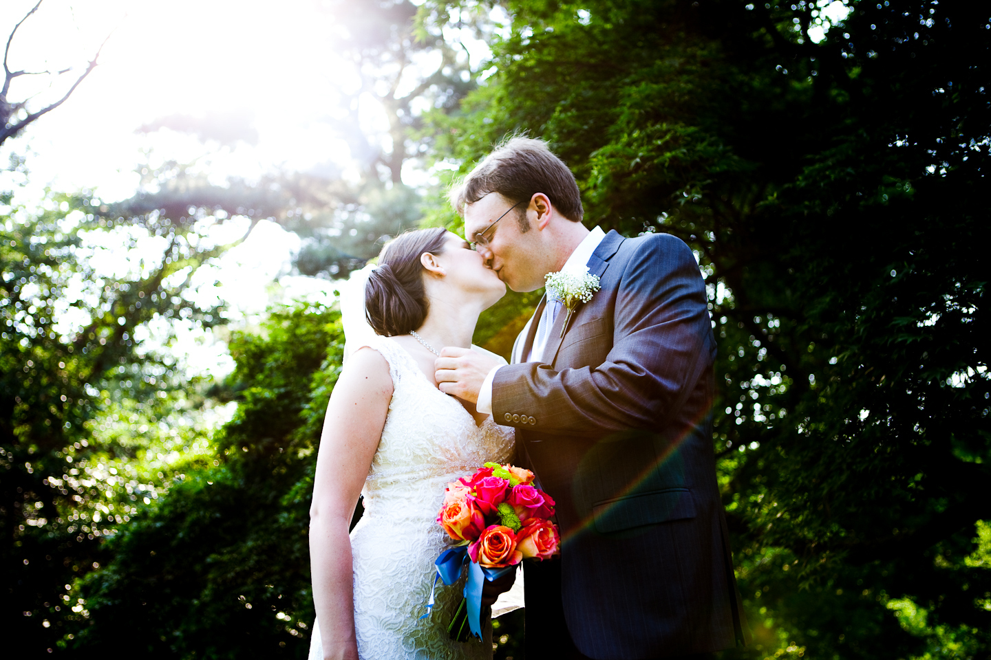 Wedding, Kiss, Backyard, Ct, Growing tree photography
