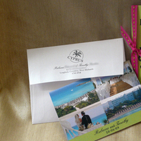 Stationery, Destinations, pink, green, invitation, Invitations, Wedding, Destination, Pass, Boarding, Passport, Custom paper works
