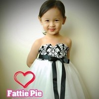 Flowers & Decor, Wedding Dresses, Fashion, white, black, dress, Flower, Girl