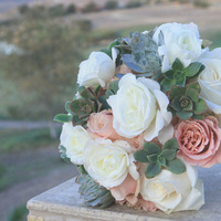 Flowers & Decor, white, pink, green, Bride Bouquets, Flowers, Bouquet, Succulent
