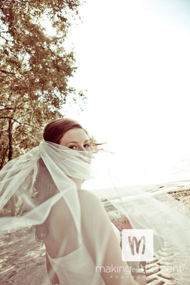 Inspiration, Wedding Dresses, Veils, Beach Wedding Dresses, Fashion, orange, brown, dress, Beach, Bride, Veil, Board, Wind, Making the moment photography