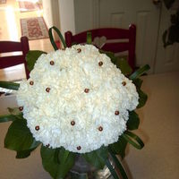 Ceremony, Flowers & Decor, white, brown, Ceremony Flowers, Bride Bouquets, Flowers, Bouquet, Bridal, Carnations, Renejohn designs