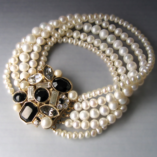 Flowers & Decor, Jewelry, white, ivory, brown, black, silver, gold, Bracelets, Brooches, Vintage, Bride, Flower, Romantic, Bridal, Elegant, Theme, Crystal, Couture, Weddings, Cream, Bracelet, Swarovski, Brooch, Set, Rhinestone, Pearl, Haute, Crystals, Rhinestones, Off, Multi, Strand