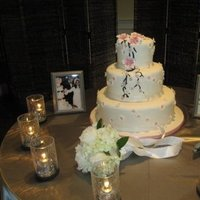 Cakes, white, pink, cake, Wedding