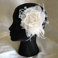 Flowers & Decor, Wedding Dresses, Fashion, white, dress, Bride Bouquets, Bride, Flowers, Roses, Silk, Hairpiece, Handmade, Alice hart couture millinery, Alicehartcouture, Flower Wedding Dresses, Silk Wedding Dresses