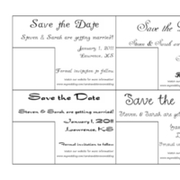 Stationery, Invitations, The, Save, Date, Fonts