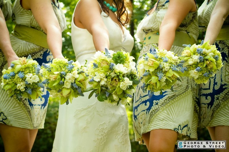 Inspiration, Flowers & Decor, Bridesmaids, Bridesmaids Dresses, Wedding Dresses, Fashion, blue, green, brown, dress, Bridesmaid Bouquets, Flowers, Board, llc, Virtuous events, Flower Wedding Dresses