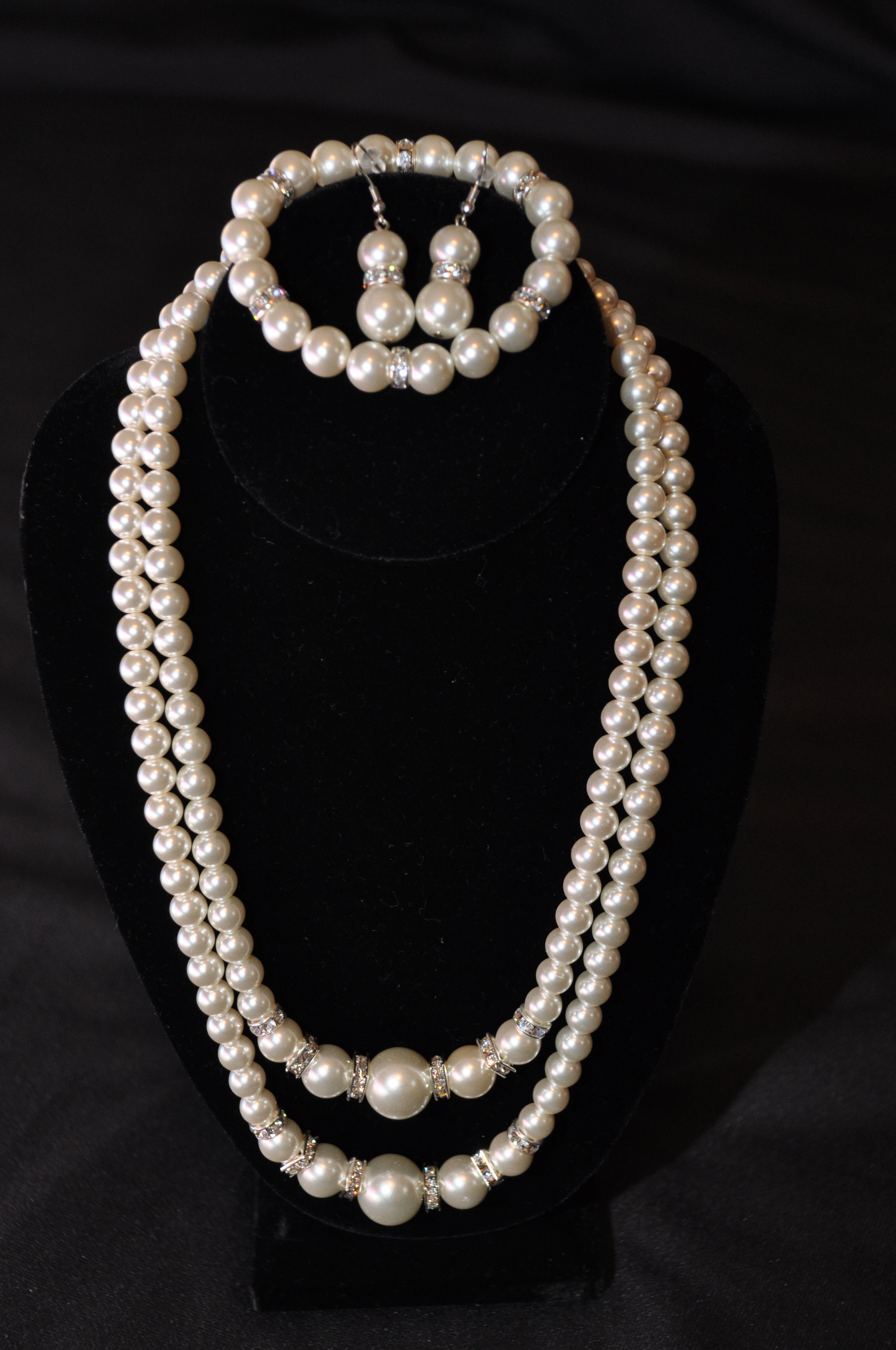 Jewelry, 3, Set, Pearl, Piece