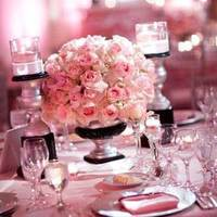 Inspiration, Reception, Flowers & Decor, pink, black, silver, Board
