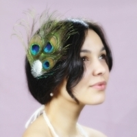 Beauty, Ceremony, Inspiration, Flowers & Decor, Bridesmaids, Bridesmaids Dresses, Fashion, purple, blue, green, Feathers, Hair, Board, Peacock, Fascinator, Ellen marie, Feather Wedding Dresses