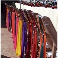Ceremony, Flowers & Decor, yellow, orange, pink, purple, blue, green, Tables & Seating, Chairs, Ribbons