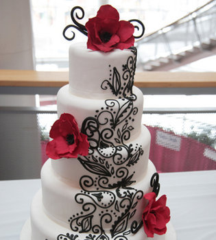 Reception, Flowers & Decor, Cakes, black, cake