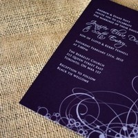 Stationery, white, pink, purple, blue, Invitations, Izzy and the bean design