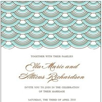 Stationery, white, ivory, blue, brown, black, Beach, Invitations, Circles, Pool, Sand, Aqua, Dots, Waves, Izzy and the bean design