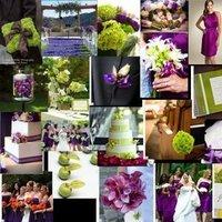 purple, green