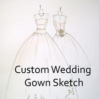 Wedding Dresses, Fashion, dress, Portrait, Gown, Wedding, Sketch, Art, Megan hamilton weddings