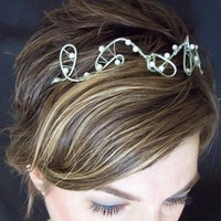 Beauty, Jewelry, white, silver, Tiaras, Hair, Tiara, Pearls, Headpiece, Handmade, Megan hamilton weddings