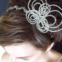Beauty, silver, Headbands, Hair, Headpiece, Headband, Handmade, Beaded, Handcrafted, Megan hamilton weddings