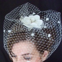 Beauty, Flowers & Decor, Veils, Fashion, white, Headbands, Flower, Veil, Hair, Headpiece, Headband, Russian, Veiling, Megan hamilton weddings
