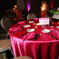 Reception, Flowers & Decor, orange, pink, green, Centerpieces, Tables & Seating, Tables, The savvy event