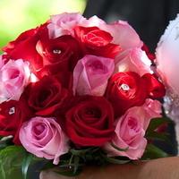 Ceremony, Flowers & Decor, pink, red, Ceremony Flowers, Bride Bouquets, Flowers, Roses, Bouquet, Bridal, Rainflorist designs
