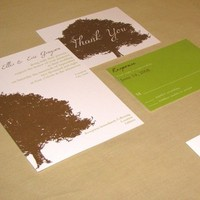 Vineyard Wedding Invitations, Thank You Notes