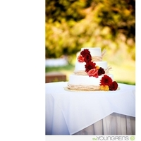 Flowers & Decor, Cakes, orange, red, brown, gold, cake, Flowers, Wedding