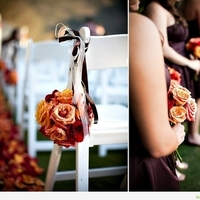 Ceremony, Flowers & Decor, orange, red, brown, gold, Ceremony Flowers, Aisle Decor, Flowers, Aisle, Alter, Buds blooms