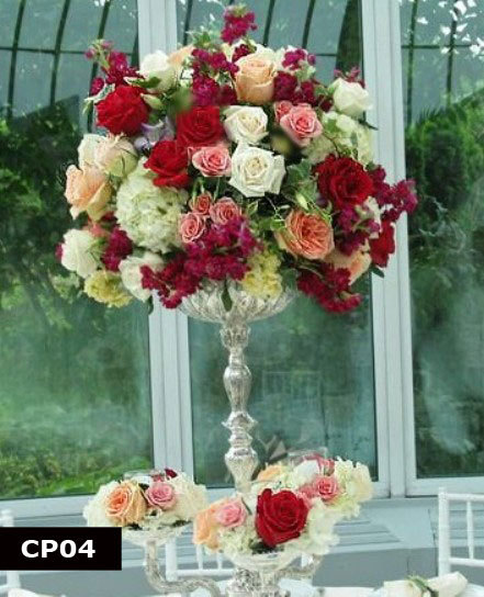 Ceremony, Inspiration, Reception, Flowers & Decor, white, orange, pink, red, silver, gold, Ceremony Flowers, Centerpieces, Flowers, Roses, Centerpiece, Board