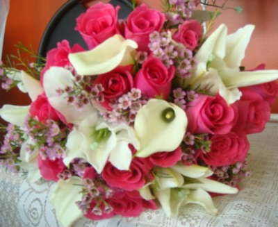 Flowers & Decor, white, pink, Flowers, Roses, Calla, Lilies