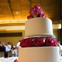 Flowers & Decor, Cakes, pink, cake, Flowers, Wedding, With, Catie ronquillo photographer