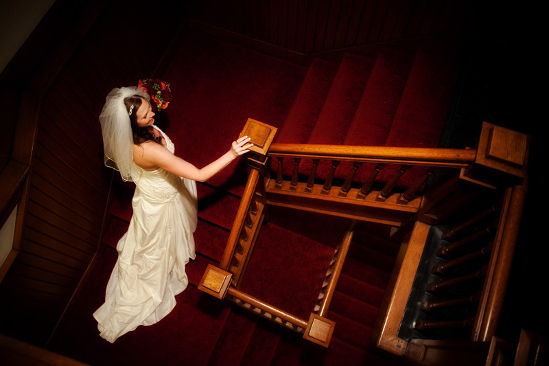 Wedding Dresses, Veils, Fashion, white, orange, red, dress, Veil, Bridal, llc, Staircase, Reminisce photography design