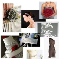 Inspiration, Flowers & Decor, Fashion, red, gray, black, Flowers, Wedding, Board, Dresses, Inspitaryion, Flower Wedding Dresses