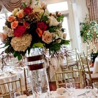 Inspiration, Reception, Flowers & Decor, Registry, white, yellow, orange, pink, red, blue, green, brown, black, silver, gold, Centerpieces, Tables & Seating, Drinkware, Flowers, Centerpiece, Table, Board, Glasses, Tables, Setting, Scenic, Oceancliff